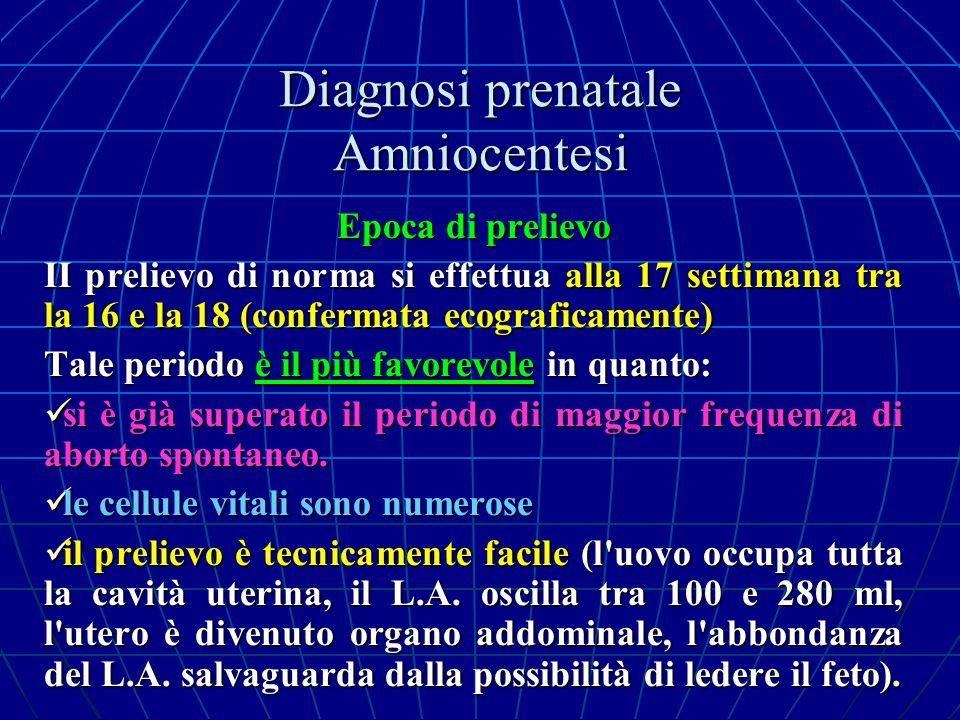 Diagnosi prenatale Amniocentesi