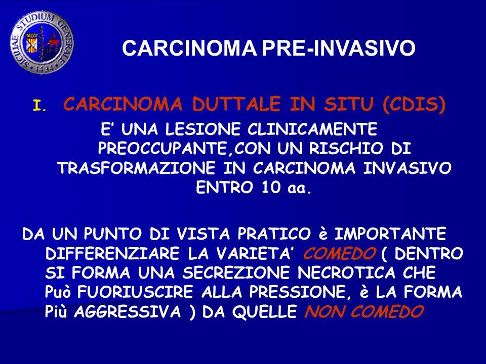 CARCINOMA DUTTALE IN SITU (CDIS)