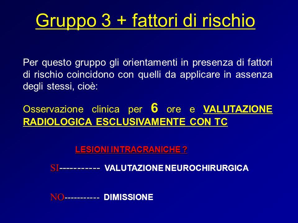 Gruppo 3 + fattori di rischio