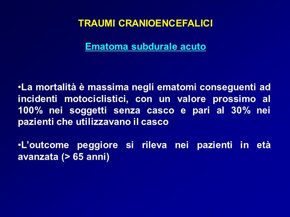TRAUMI CRANIOENCEFALICI Ematoma subdurale acuto