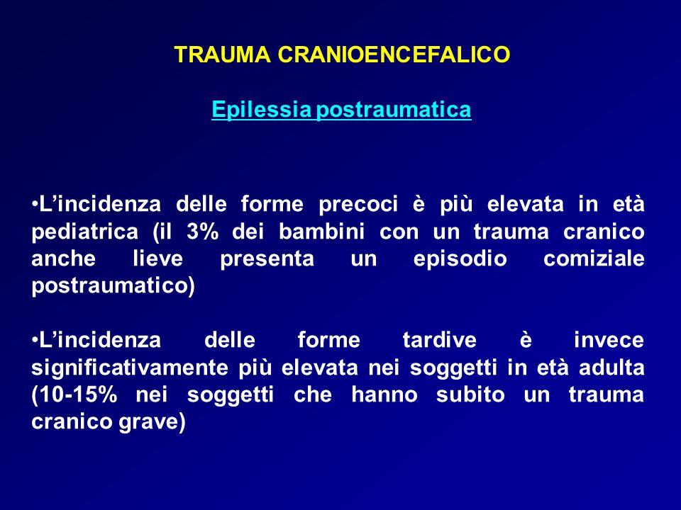 TRAUMA CRANIOENCEFALICO Epilessia postraumatica