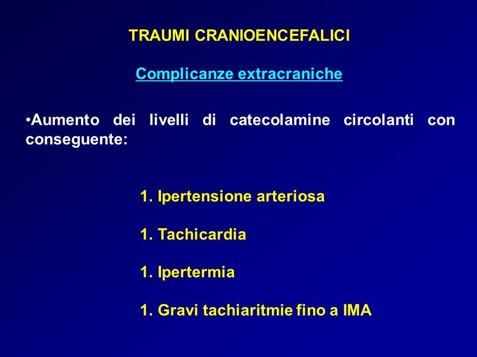 TRAUMI CRANIOENCEFALICI Complicanze extracraniche