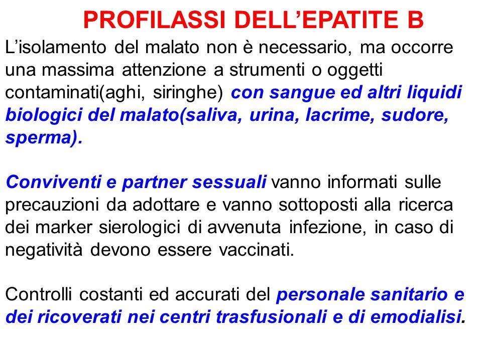 PROFILASSI DELL'EPATITE B