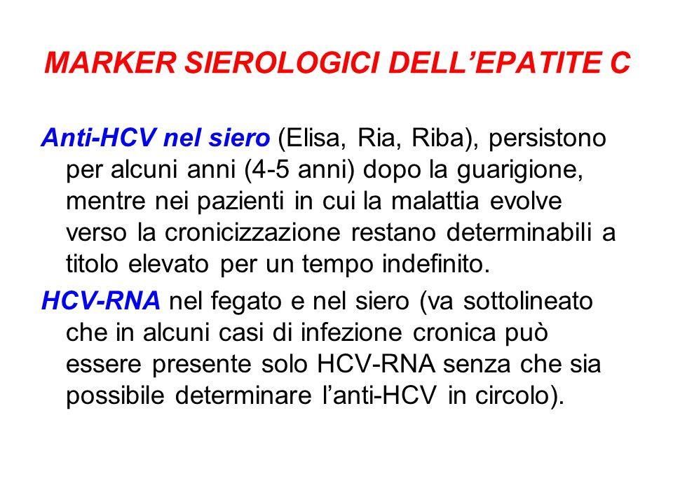 MARKER SIEROLOGICI DELL'EPATITE C