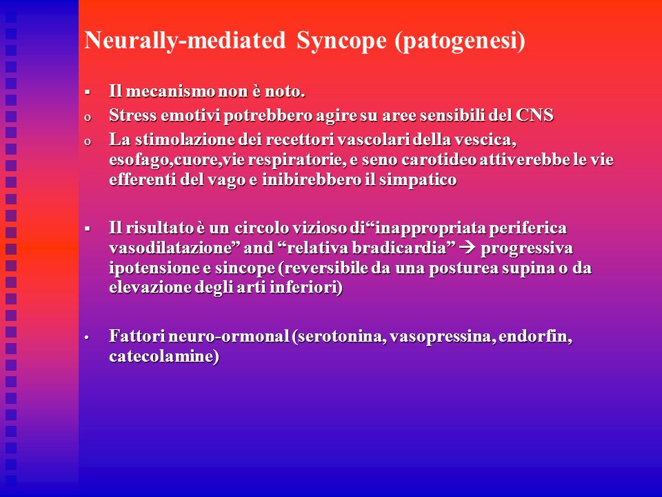 Neurally-mediated Syncope (patogenesi)