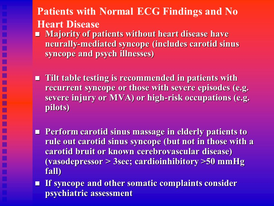 Patients with Normal ECG Findings and No Heart Disease
