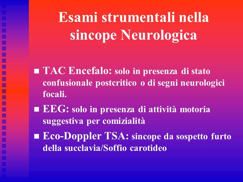 Esami strumentali nella sincope Neurologica