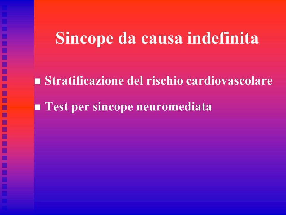Sincope da causa indefinita