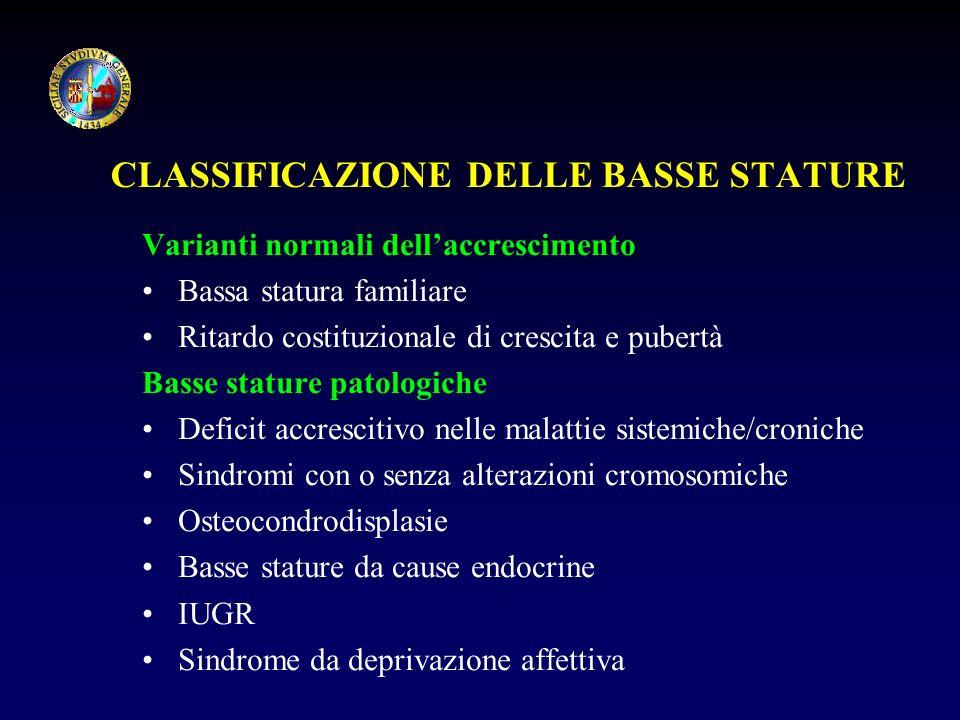 CLASSIFICAZIONE DELLE BASSE STATURE