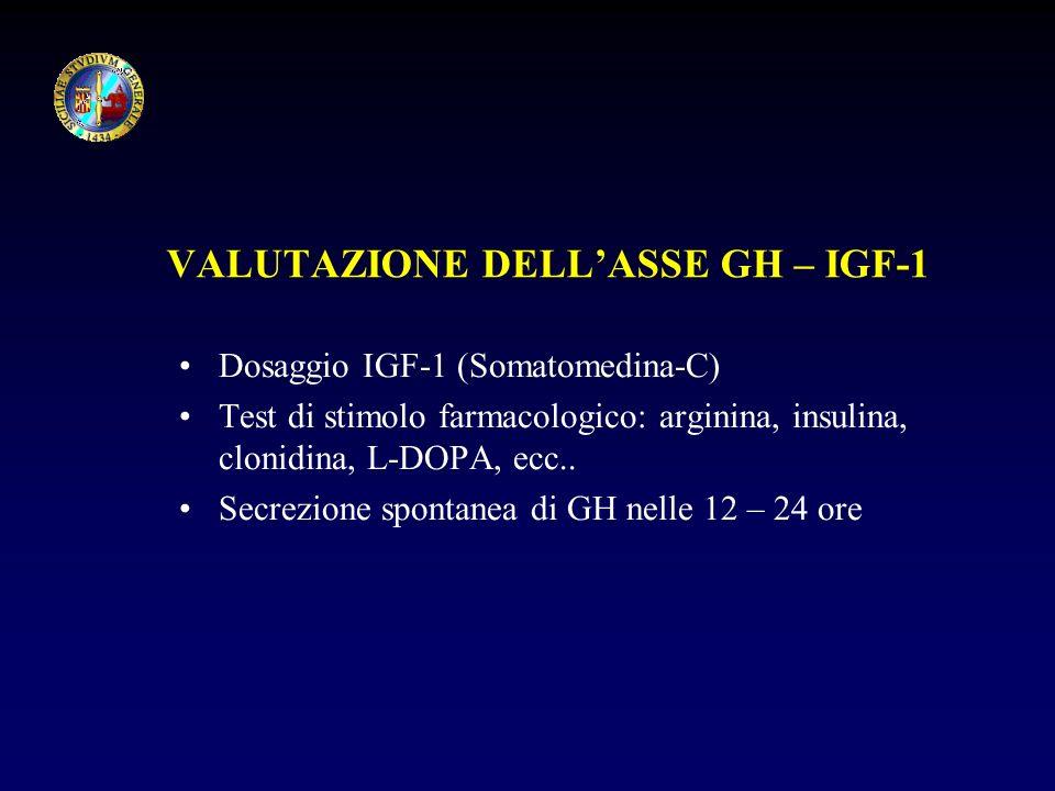 VALUTAZIONE DELL'ASSE GH – IGF-1