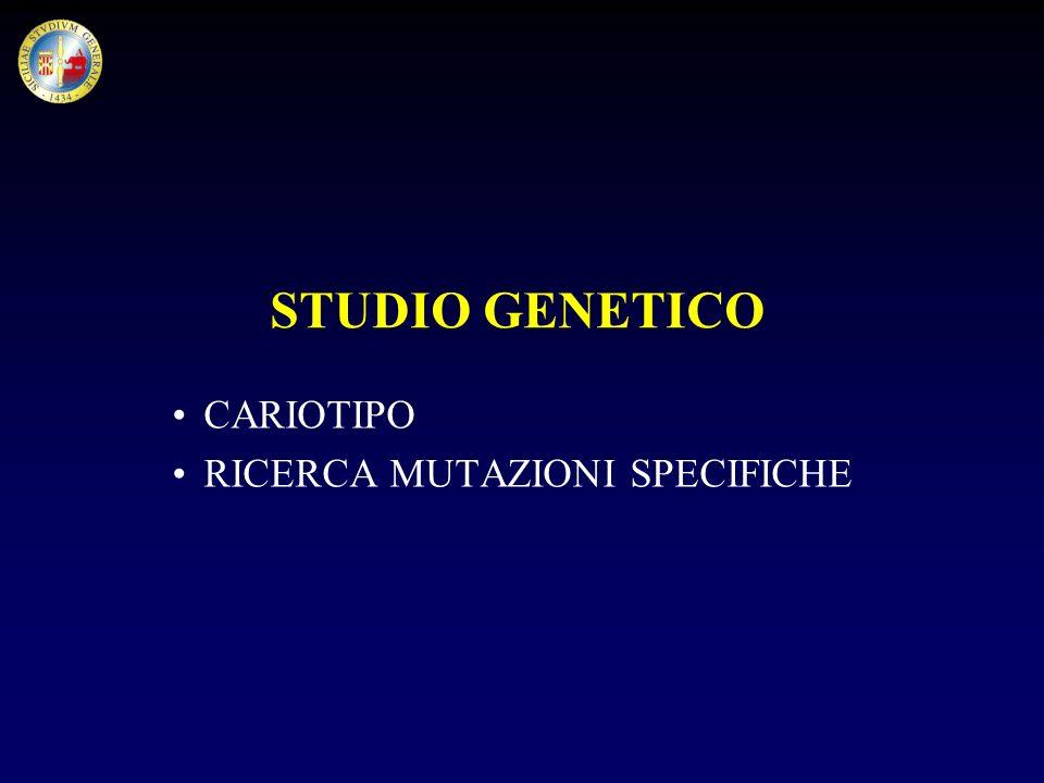 STUDIO GENETICO CARIOTIPO RICERCA MUTAZIONI SPECIFICHE