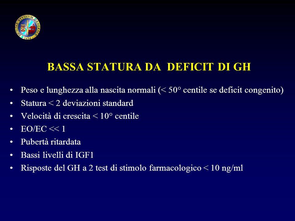 BASSA STATURA DA DEFICIT DI GH