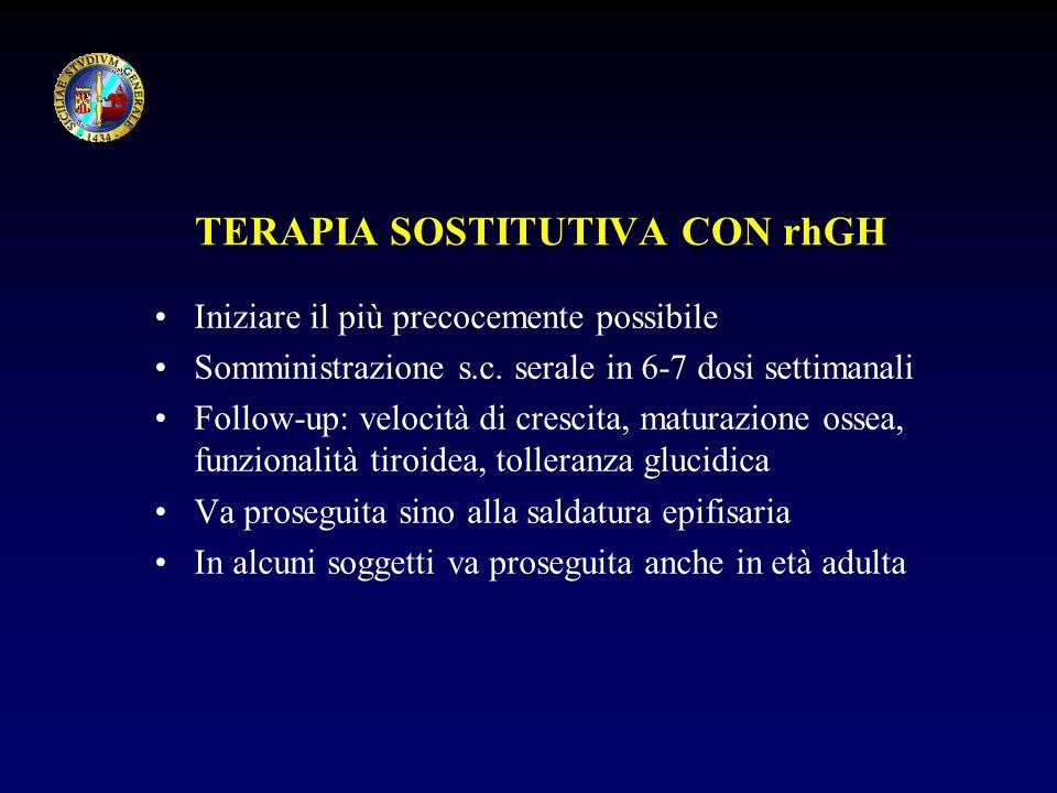 TERAPIA SOSTITUTIVA CON rhGH
