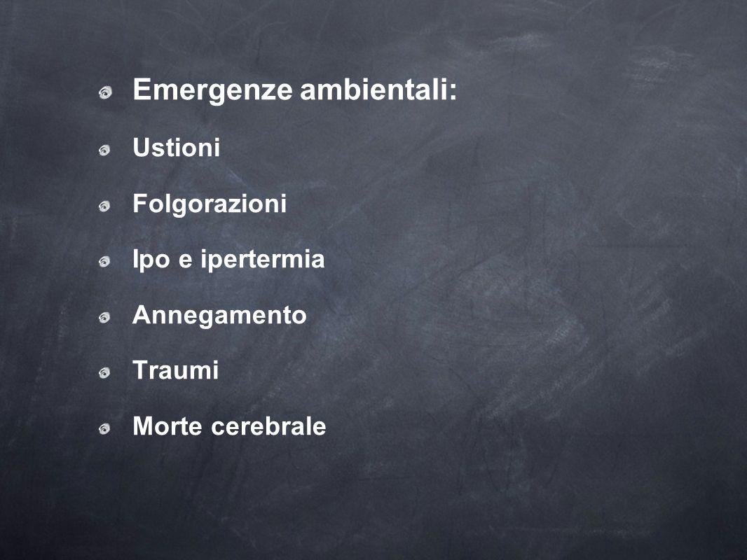 Emergenze ambientali: