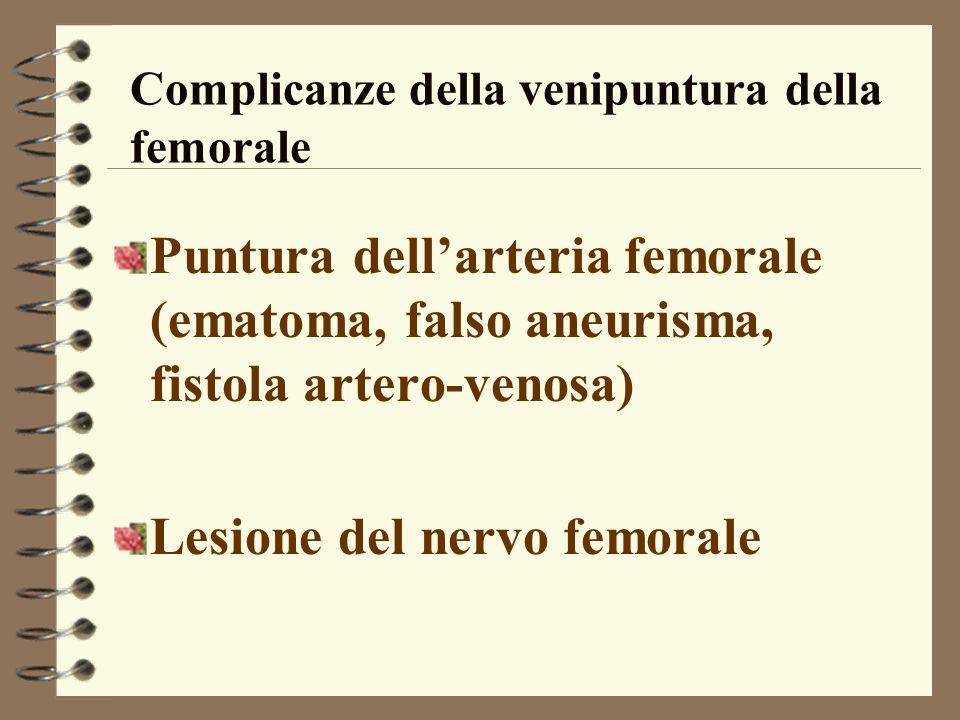 Complicanze della venipuntura della femorale