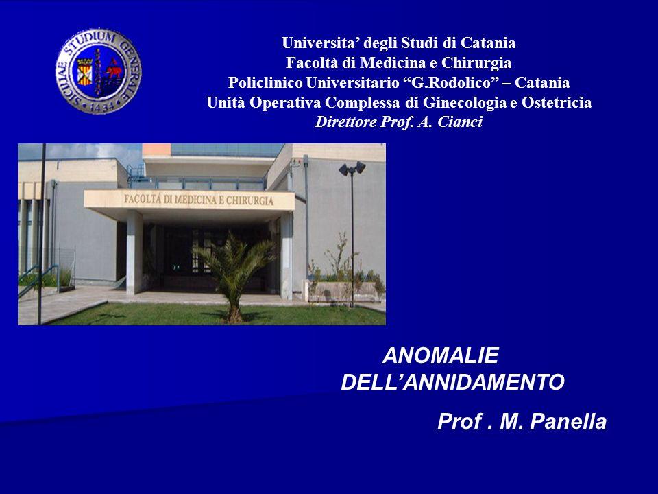 ANOMALIE DELL'ANNIDAMENTO Prof . M. Panella