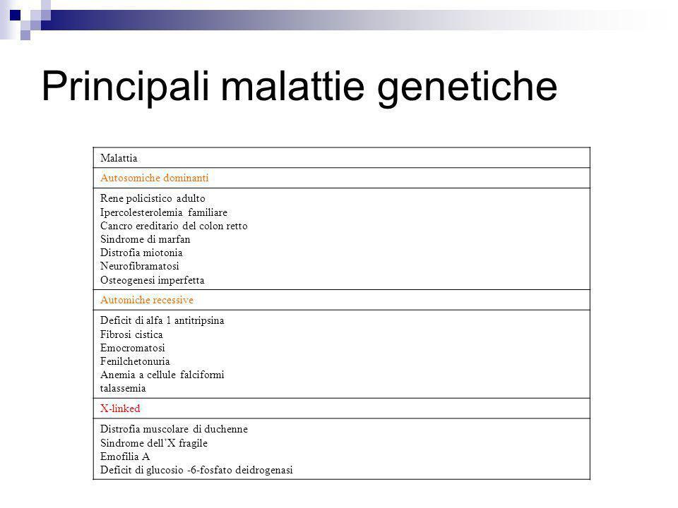 Principali malattie genetiche