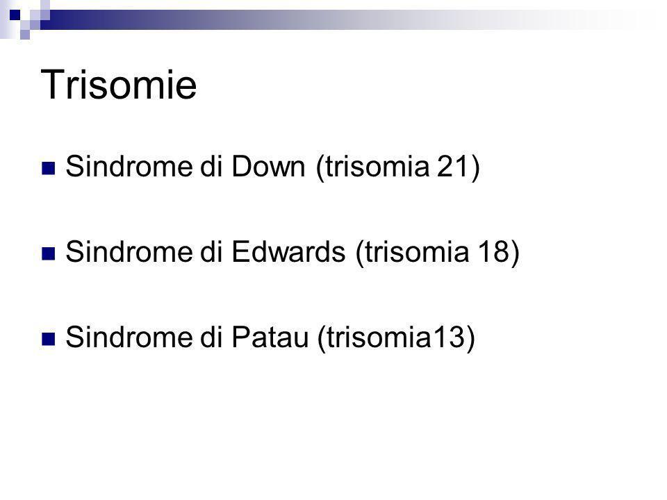 Trisomie Sindrome di Down (trisomia 21)