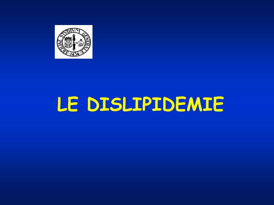 LE DISLIPIDEMIE