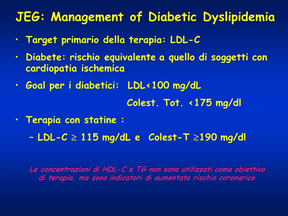 JEG: Management of Diabetic Dyslipidemia