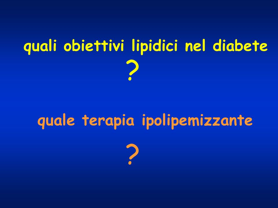 quali obiettivi lipidici nel diabete