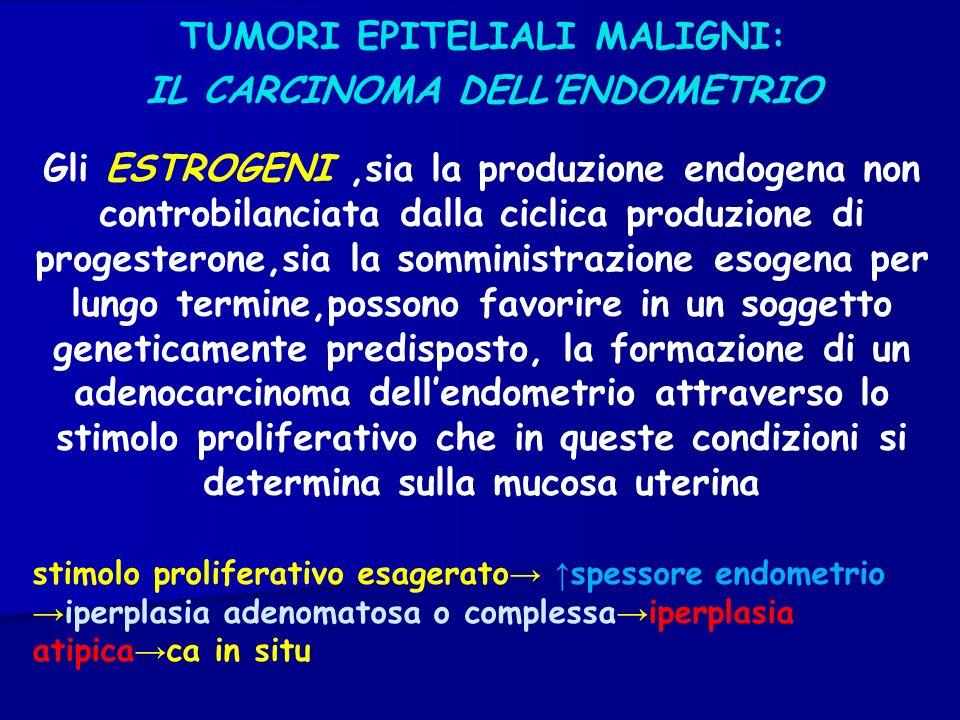 TUMORI EPITELIALI MALIGNI: IL CARCINOMA DELL'ENDOMETRIO