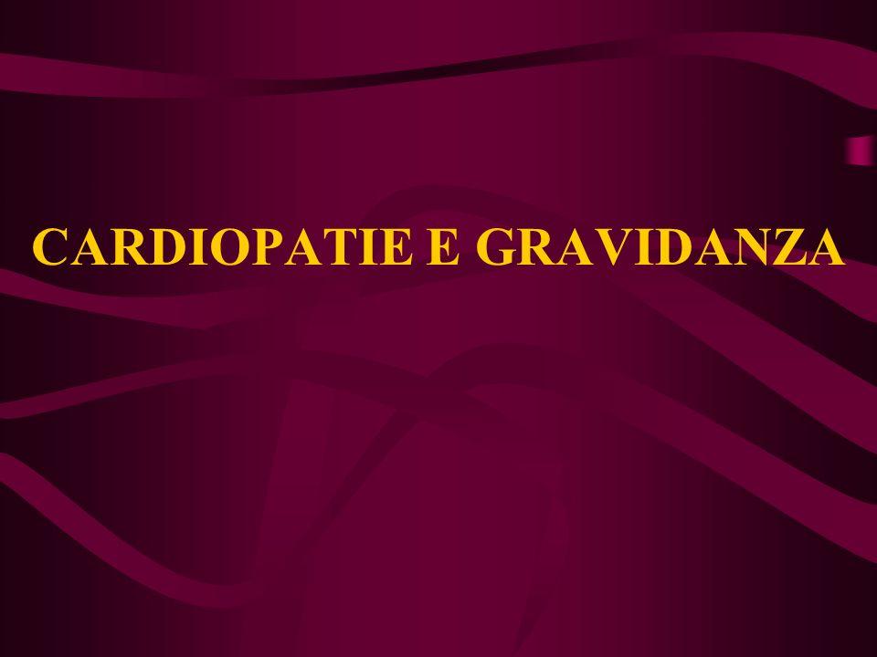 CARDIOPATIE E GRAVIDANZA
