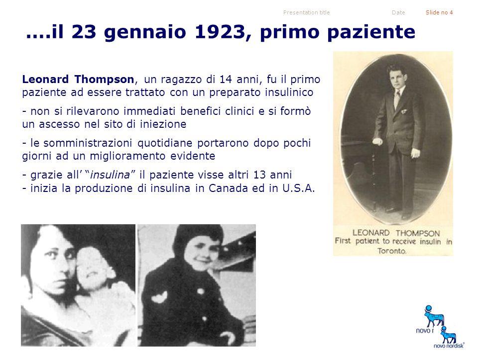 ….il 23 gennaio 1923, primo paziente
