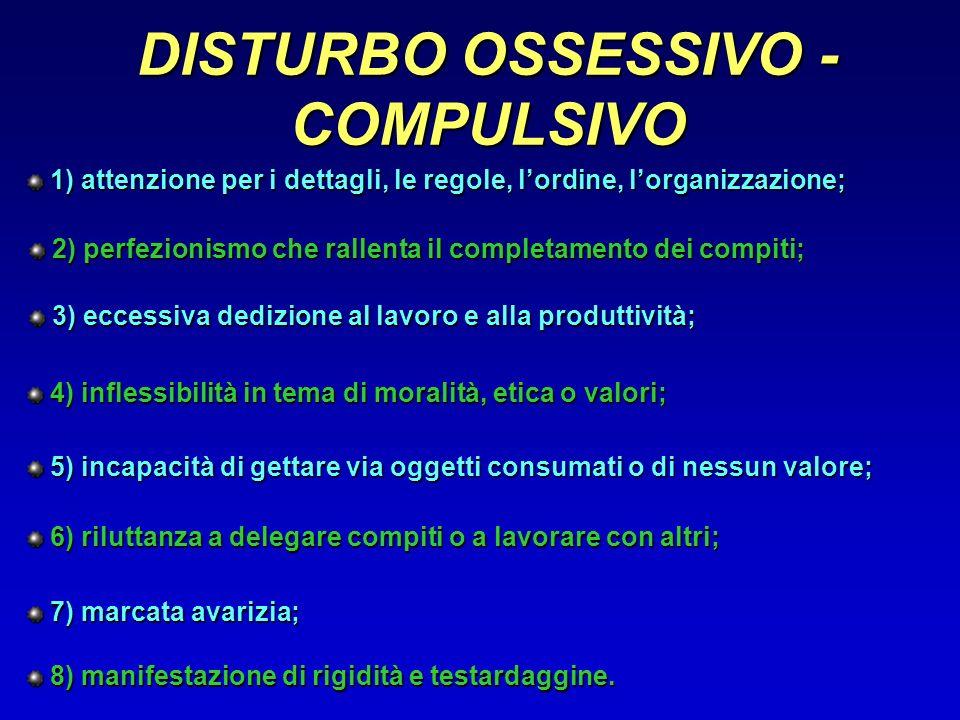 DISTURBO OSSESSIVO - COMPULSIVO