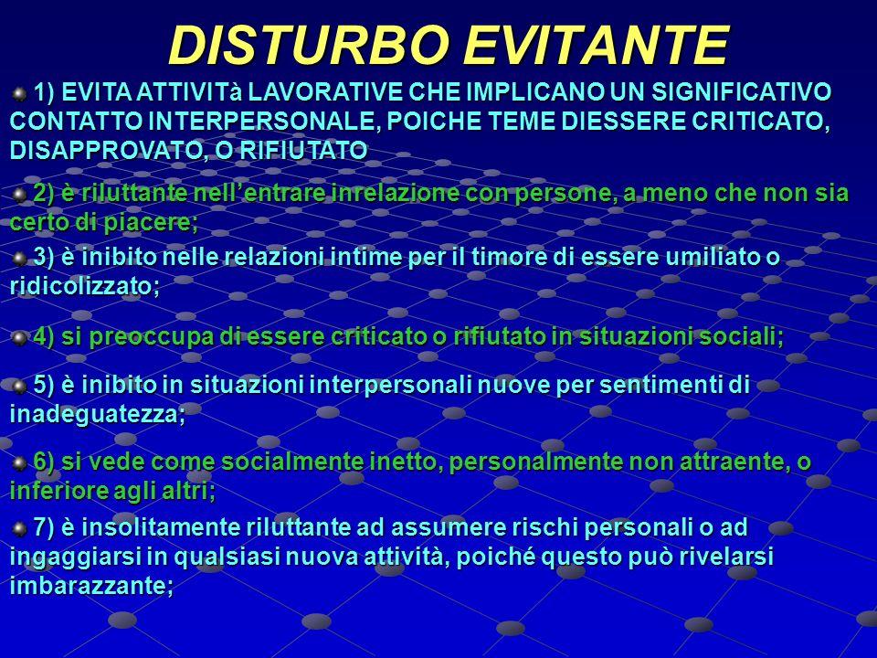 DISTURBO EVITANTE