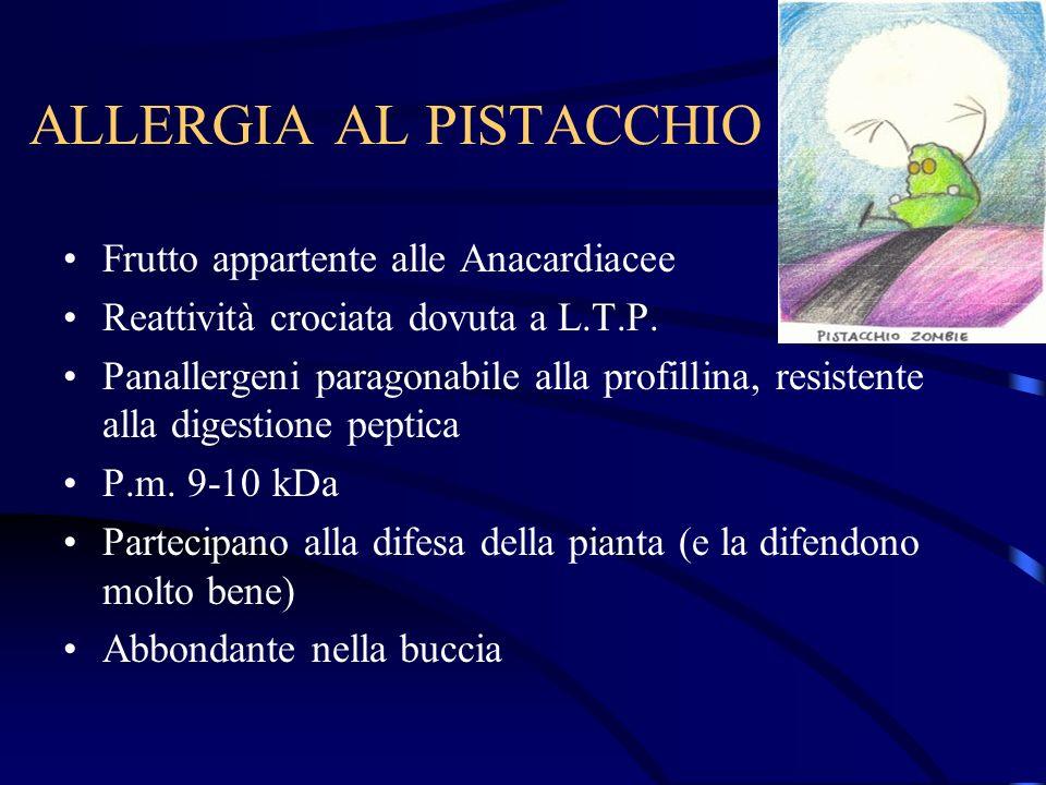 ALLERGIA AL PISTACCHIO