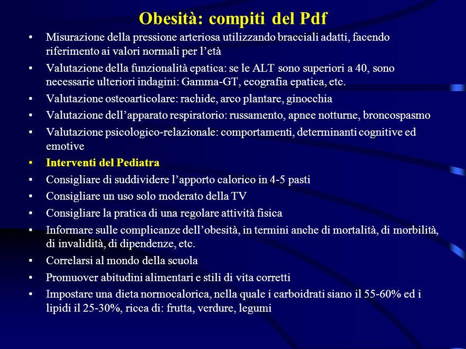 Obesità: compiti del Pdf