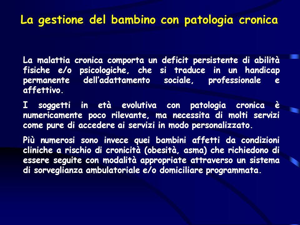 La gestione del bambino con patologia cronica