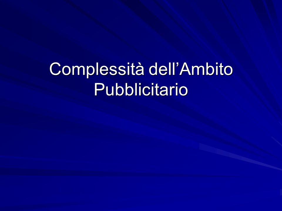 Complessità dell'Ambito Pubblicitario