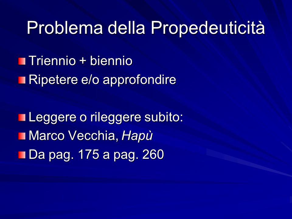 Problema della Propedeuticità