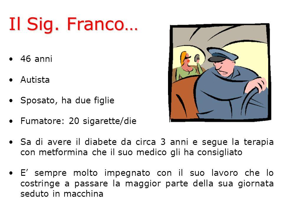 Il Sig. Franco… 46 anni Autista Sposato, ha due figlie