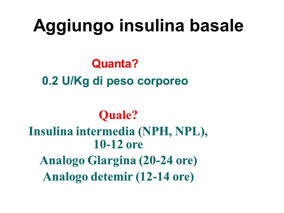 Aggiungo insulina basale