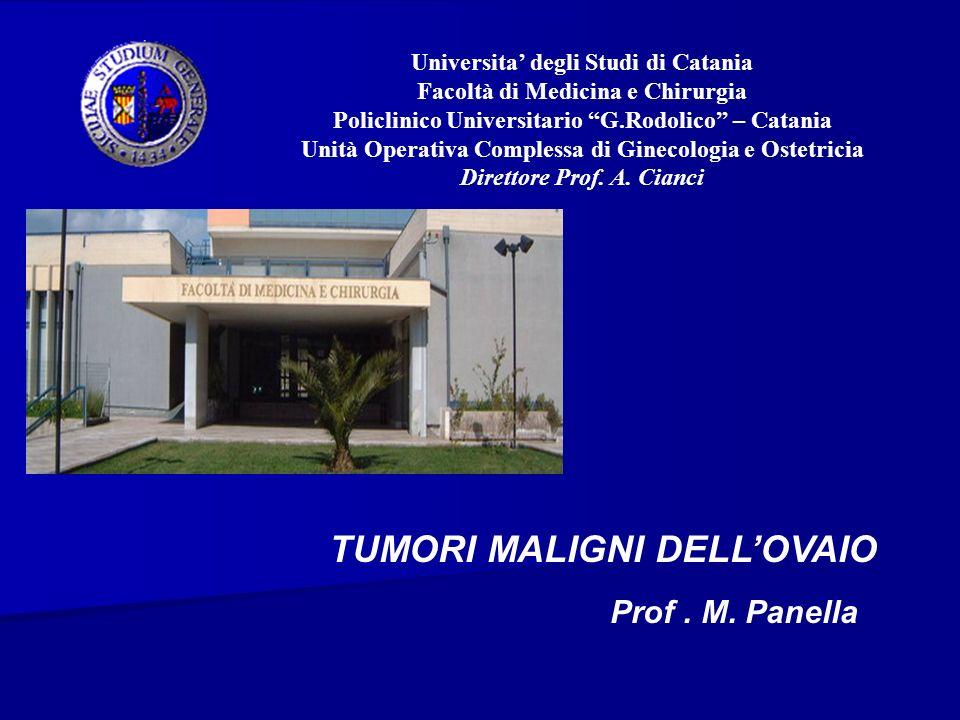 TUMORI MALIGNI DELL'OVAIO