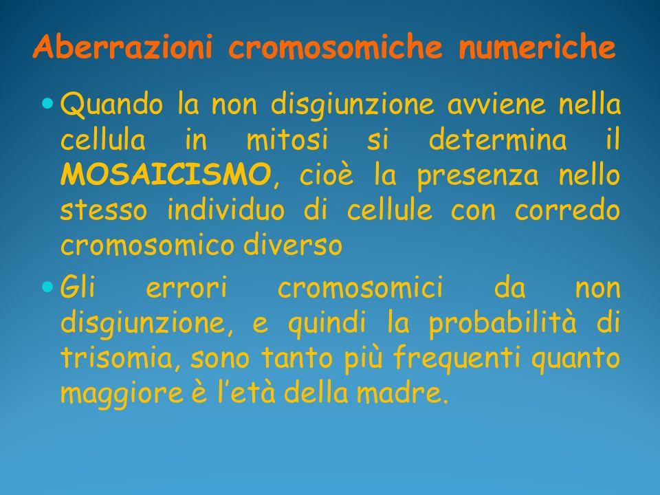 Aberrazioni cromosomiche numeriche