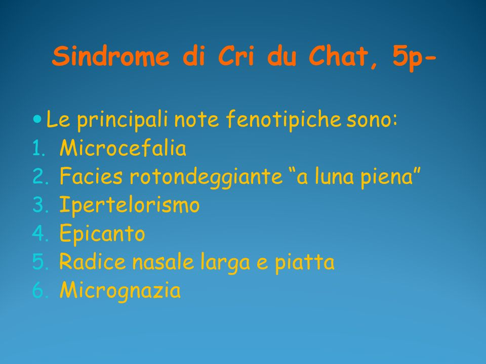 Sindrome di Cri du Chat, 5p-