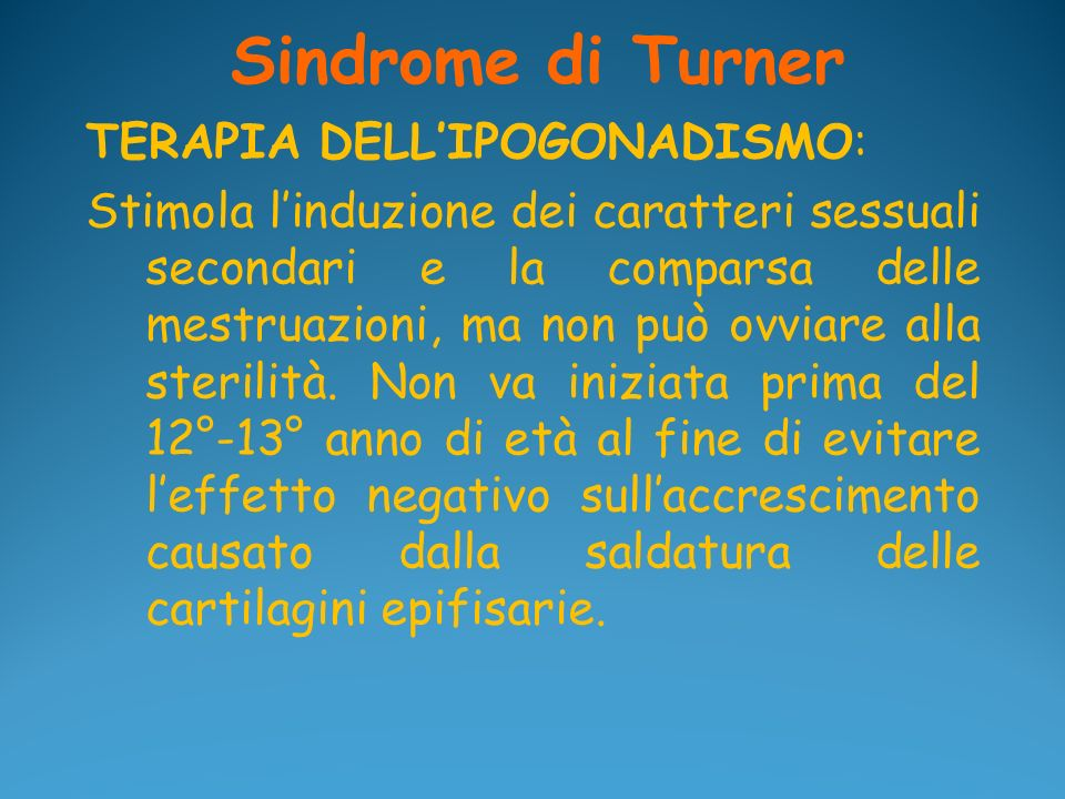 Sindrome di Turner