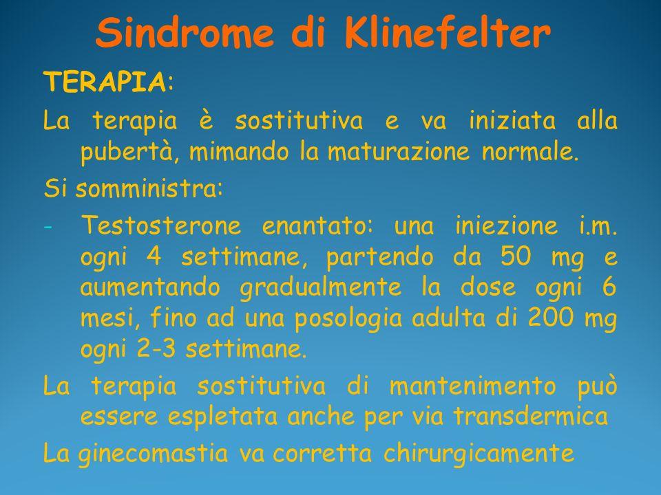 Sindrome di Klinefelter