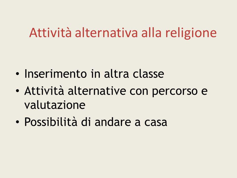 Attività alternativa alla religione