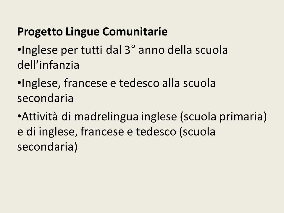 Progetto Lingue Comunitarie