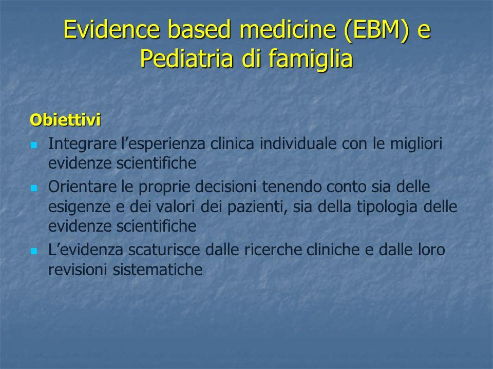 Evidence based medicine (EBM) e Pediatria di famiglia
