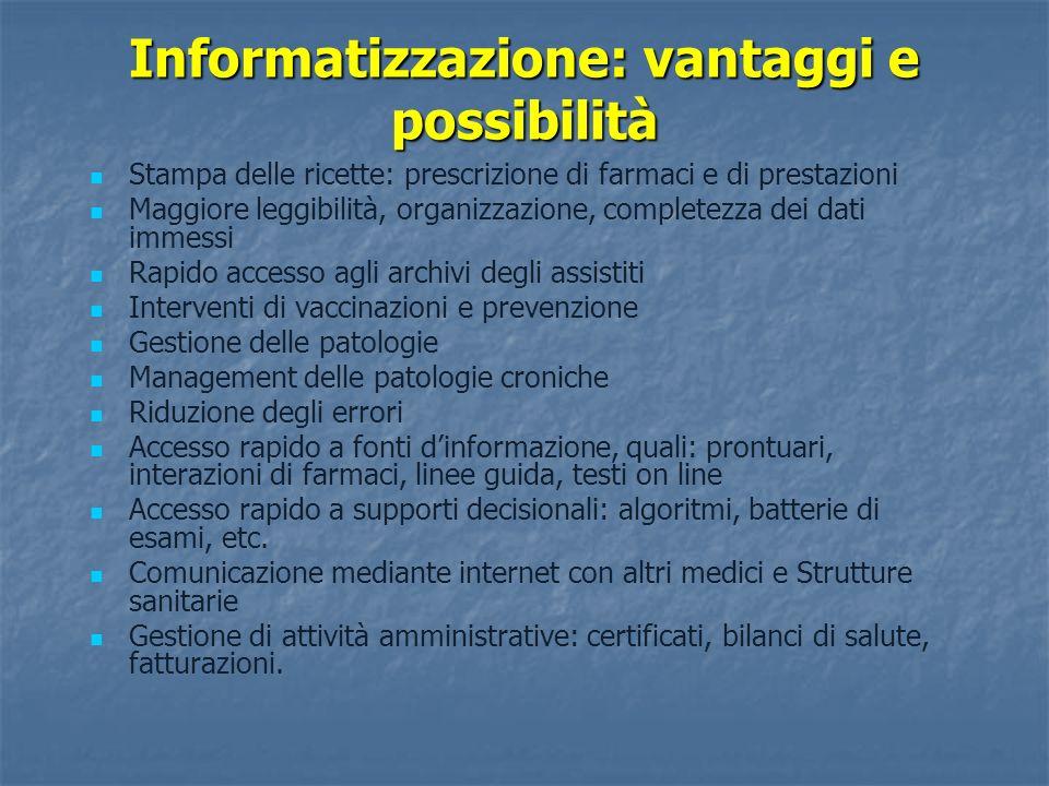 Informatizzazione: vantaggi e possibilità