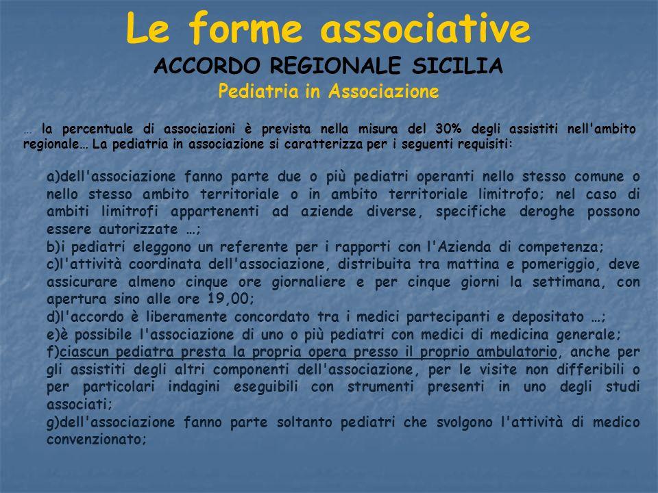 ACCORDO REGIONALE SICILIA Pediatria in Associazione