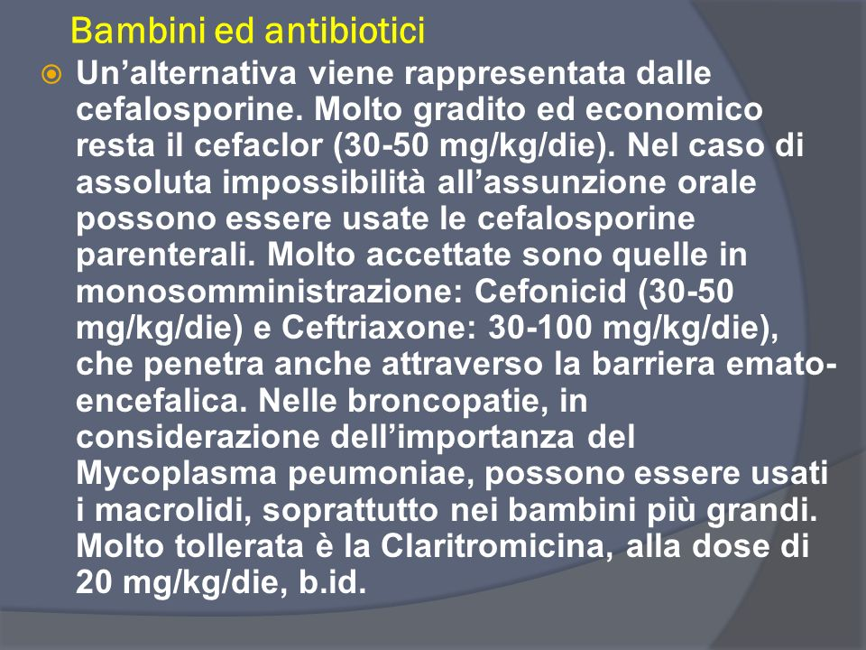 Bambini ed antibiotici