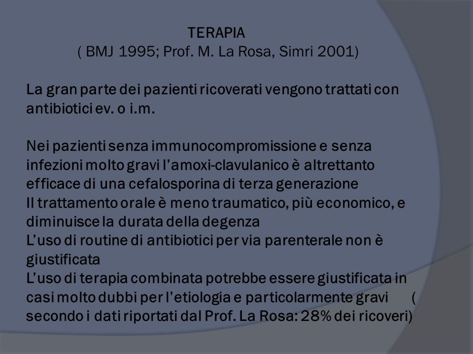 TERAPIA ( BMJ 1995; Prof. M.