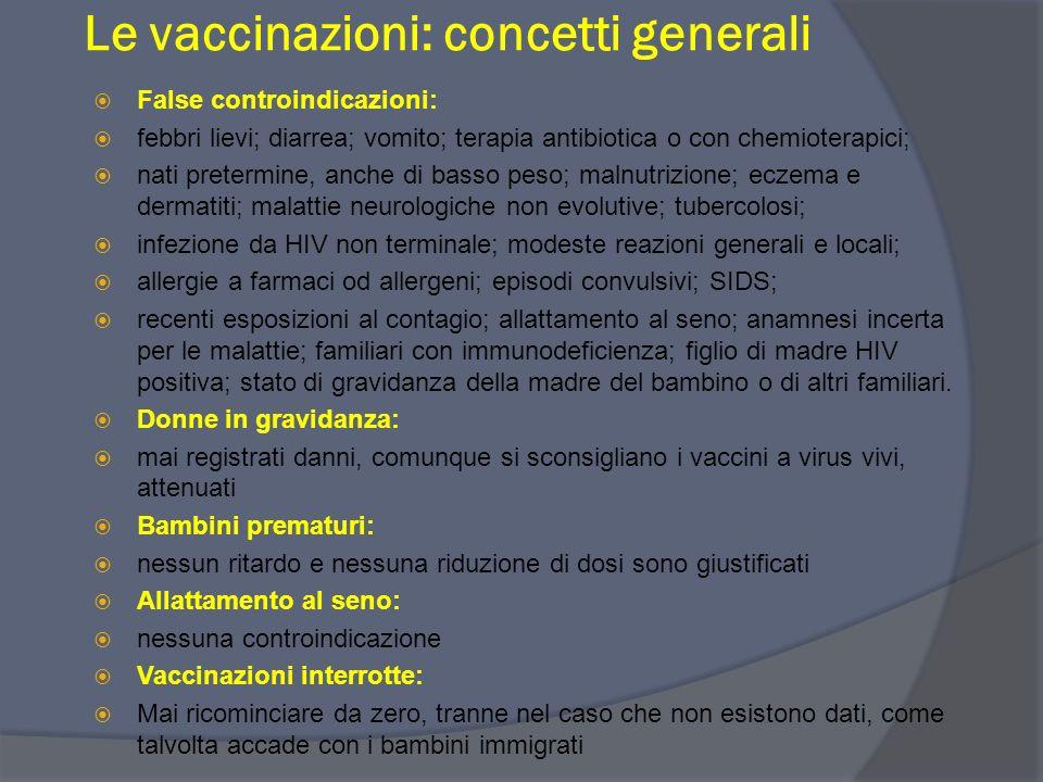 Le vaccinazioni: concetti generali